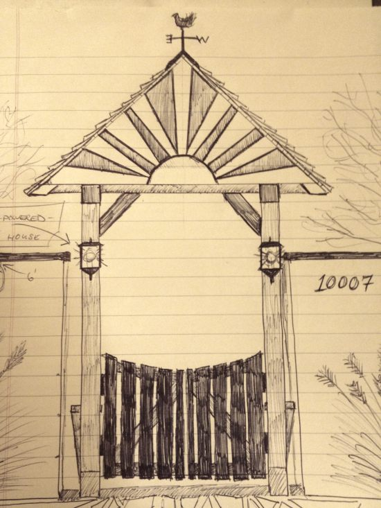 Initial front gate sketch
